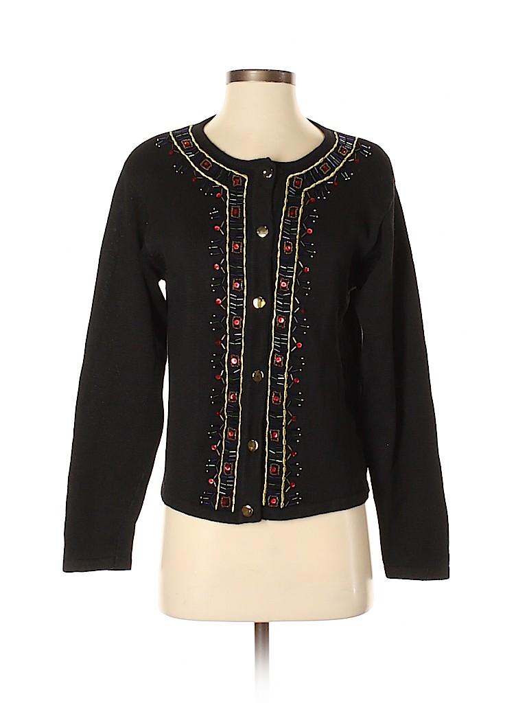 Leslie Fay Women Cardigan Size S