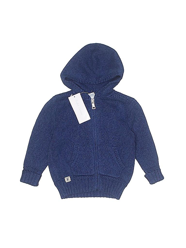 Ralph Lauren Girls Zip Up Hoodie Size 12 mo