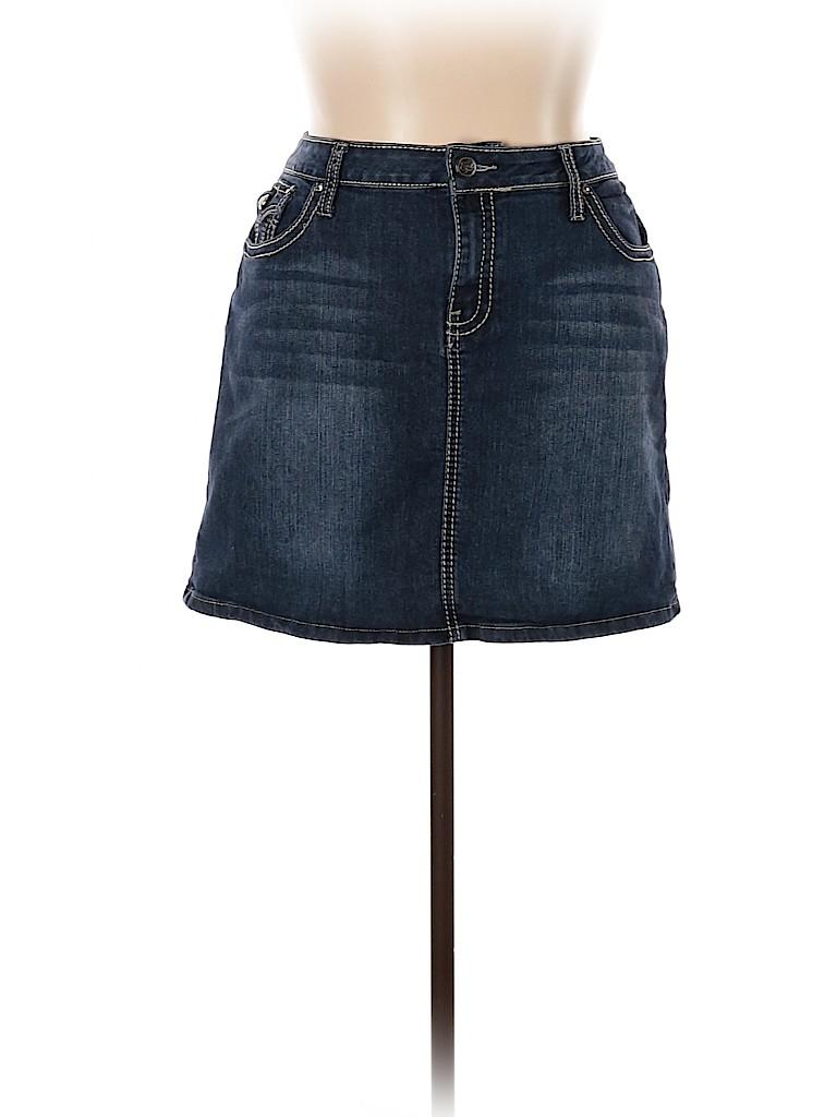 Earl Jean Women Denim Skirt Size 14