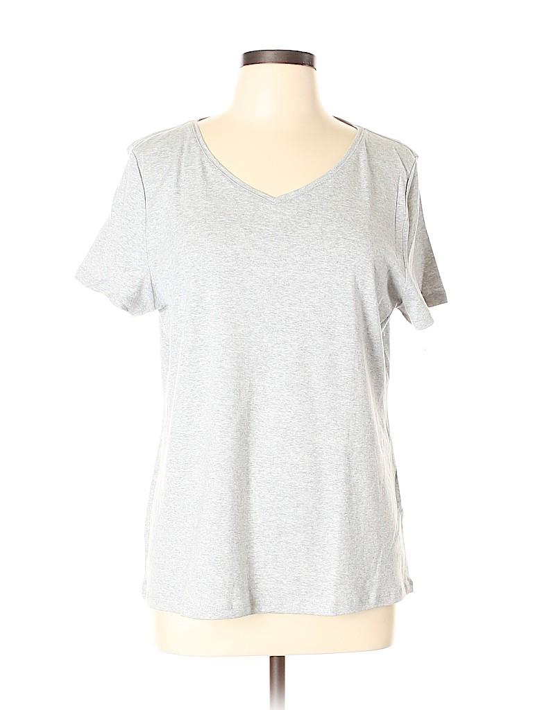 Talbots Women Short Sleeve T-Shirt Size XL