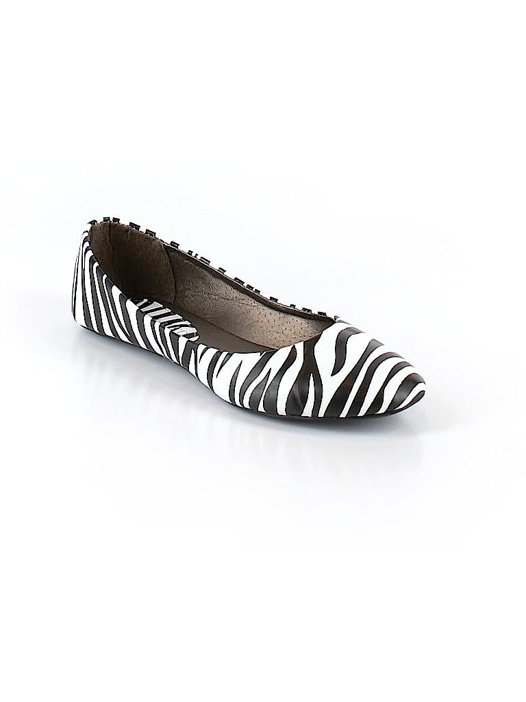 8d017dc59053d West Blvd. Animal Print White Flats Size 7 - 55% off