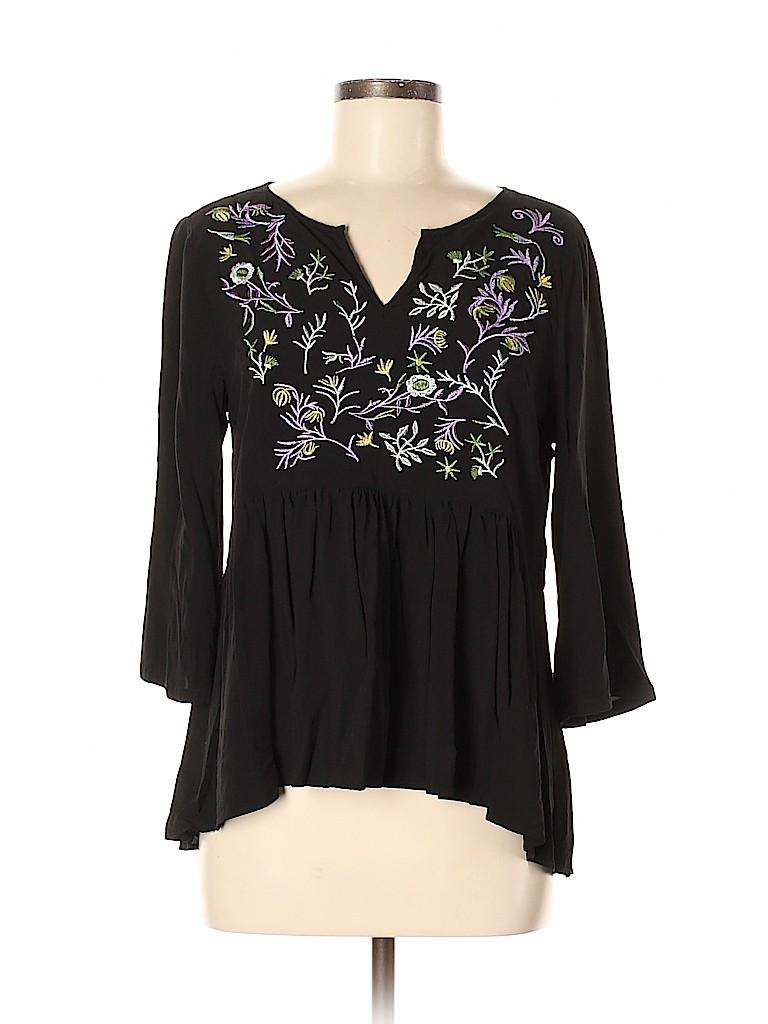 Sunny Leigh Women 3/4 Sleeve Blouse Size M