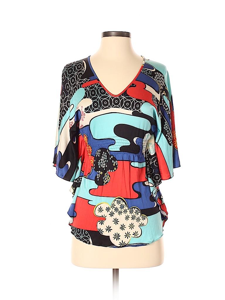 Vivienne Tam Women Short Sleeve Silk Top Size XS (0)