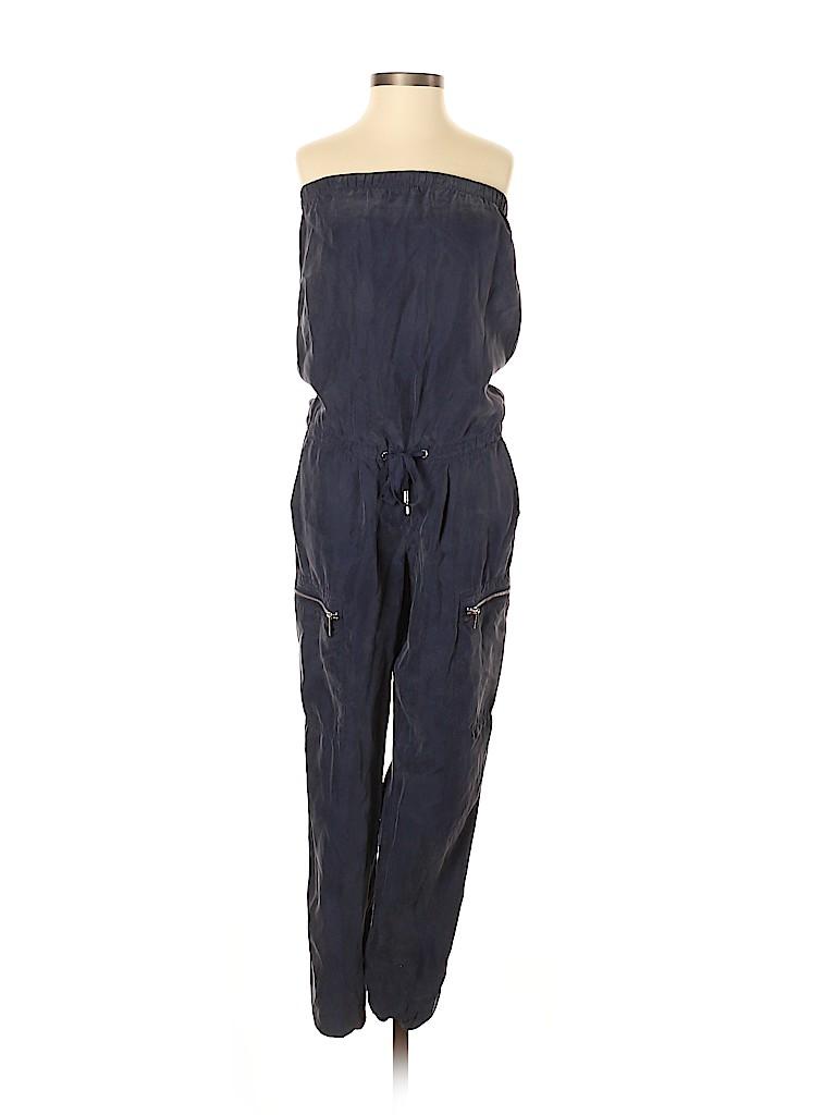 9dbe9c1b9623 MICHAEL Michael Kors 100% Polyester Solid Blue Jumpsuit Size XXS ...