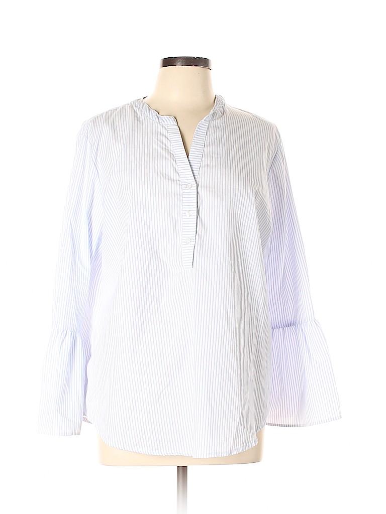 a95fb85bd79cb5 Jaclyn Smith Stripes Blue 3 4 Sleeve Blouse Size XL - 62% off