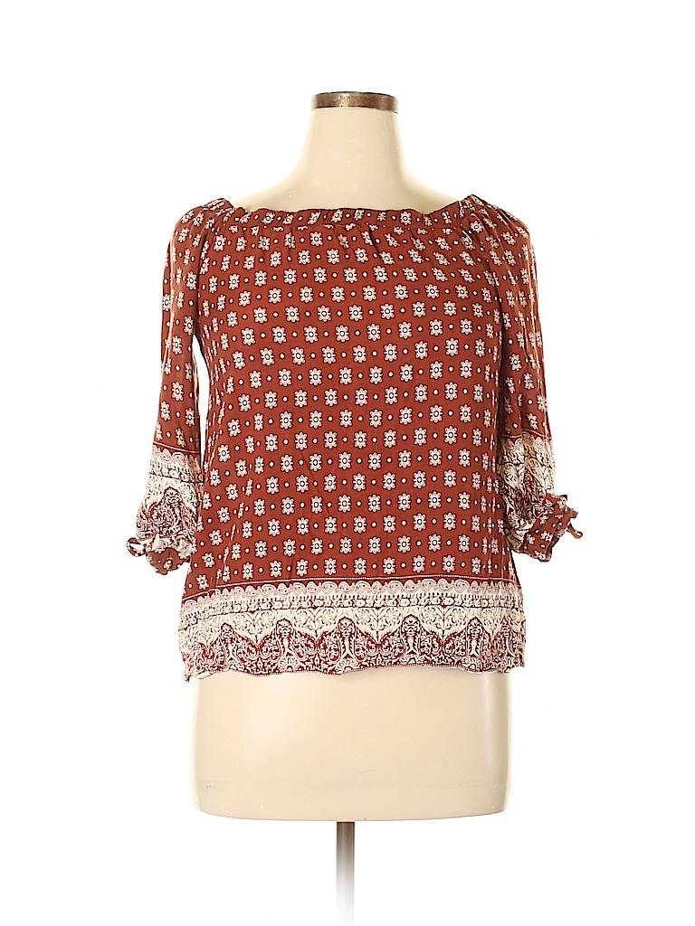 Mittoshop Women 3/4 Sleeve Blouse Size L