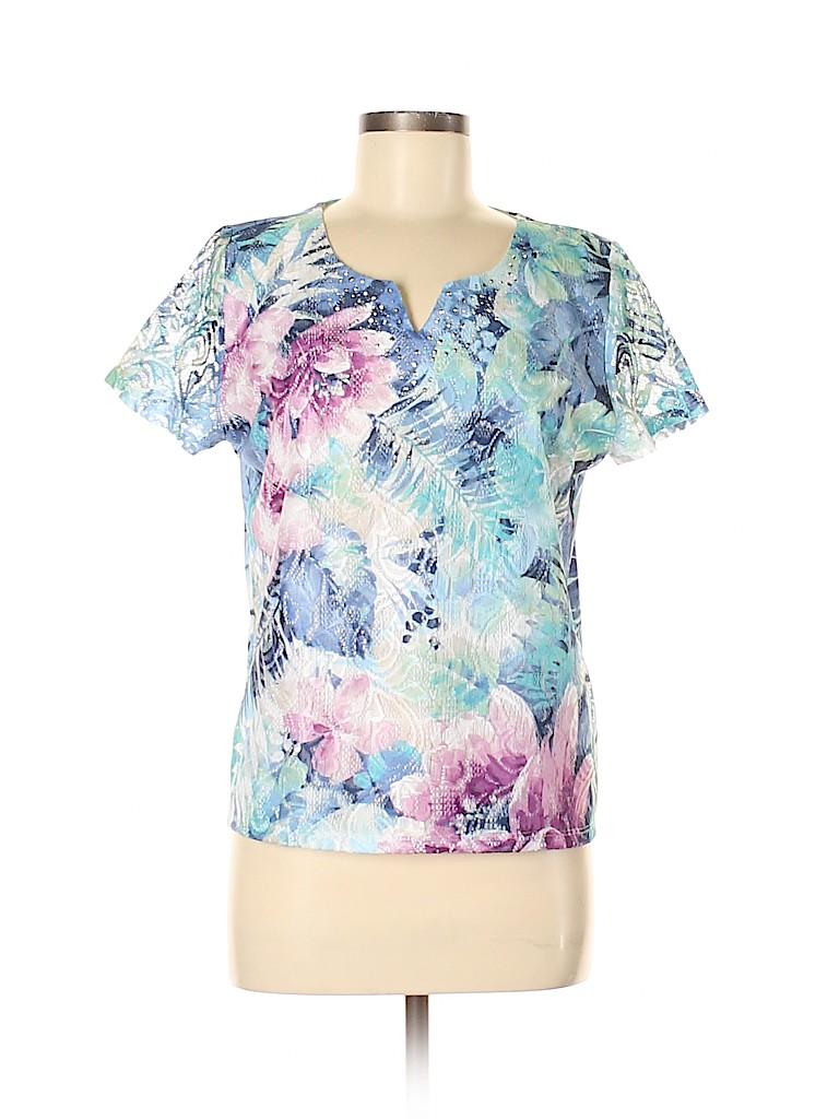 Alfred Dunner Women Short Sleeve Top Size M (Petite)