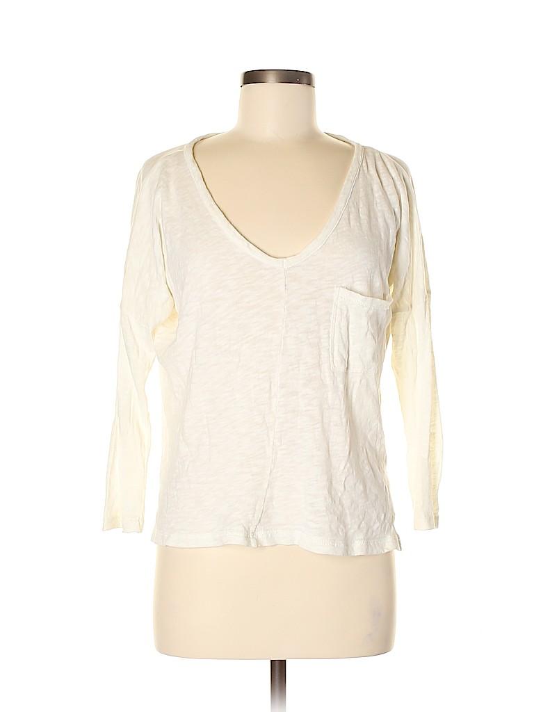 Madewell Women 3/4 Sleeve Top Size M
