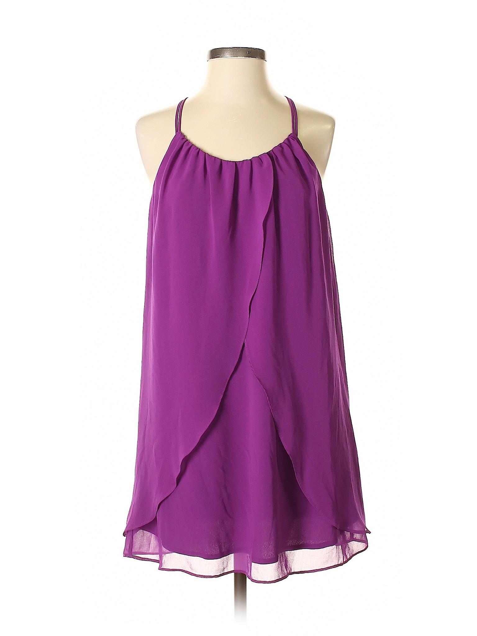 7aa278eb0e Forever 21 Women Purple Casual Dress Sm