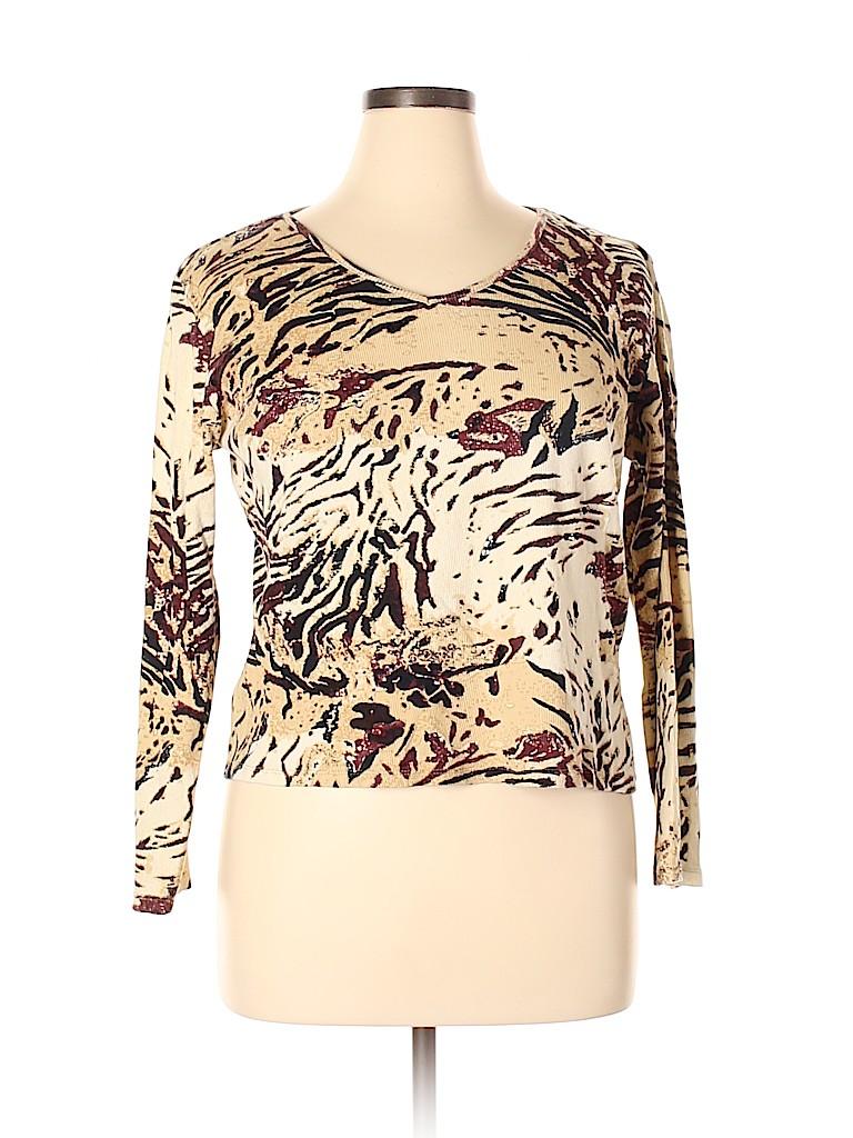 Susan Bristol Women Long Sleeve T-Shirt Size XL
