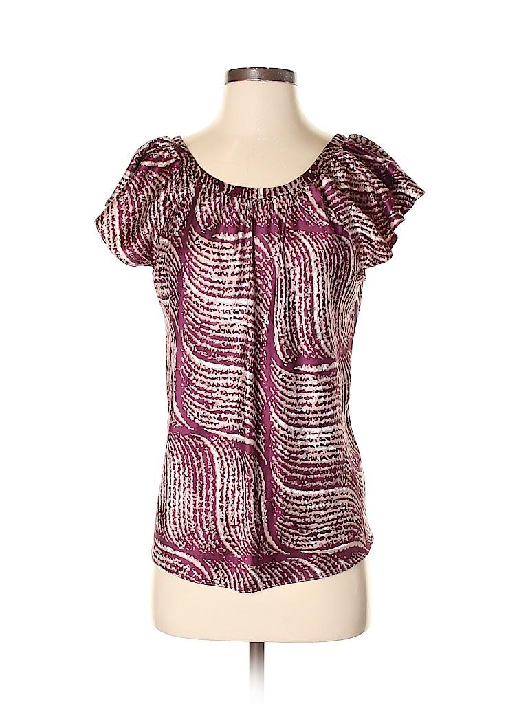 Banana Republic Women Short Sleeve Blouse Size S
