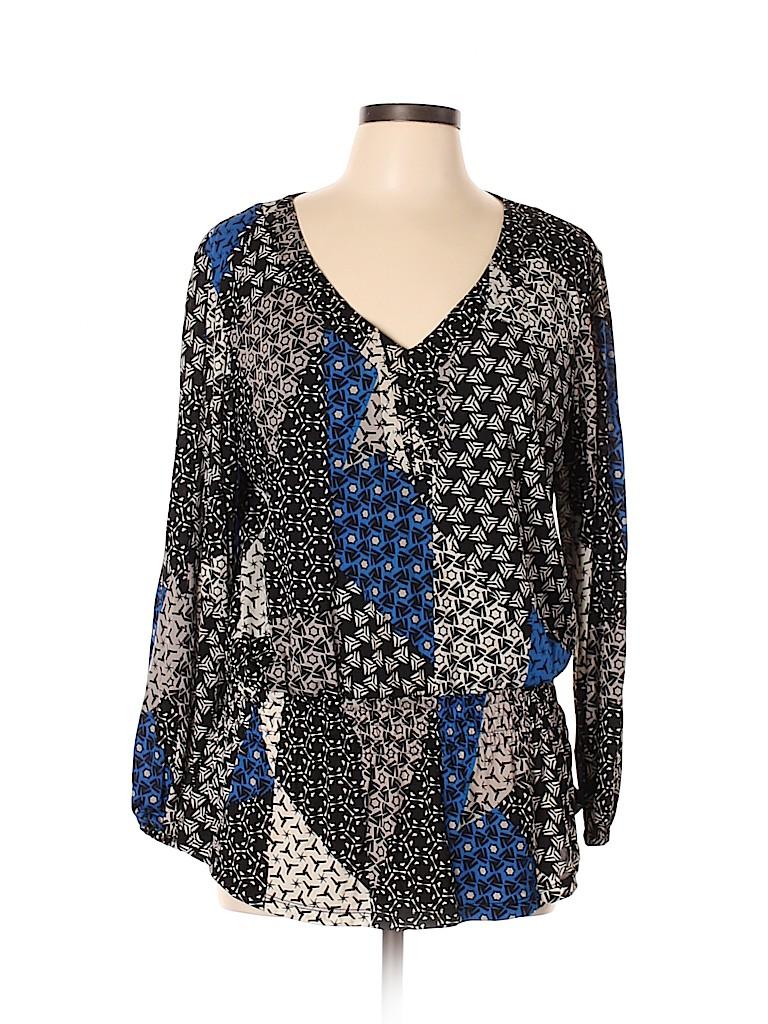 Style&Co Women Long Sleeve Top Size XL