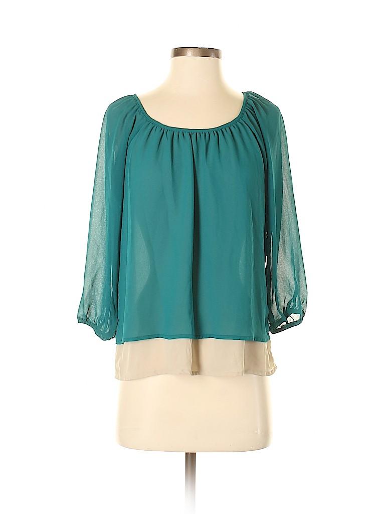 My Michelle Women 3/4 Sleeve Blouse Size S