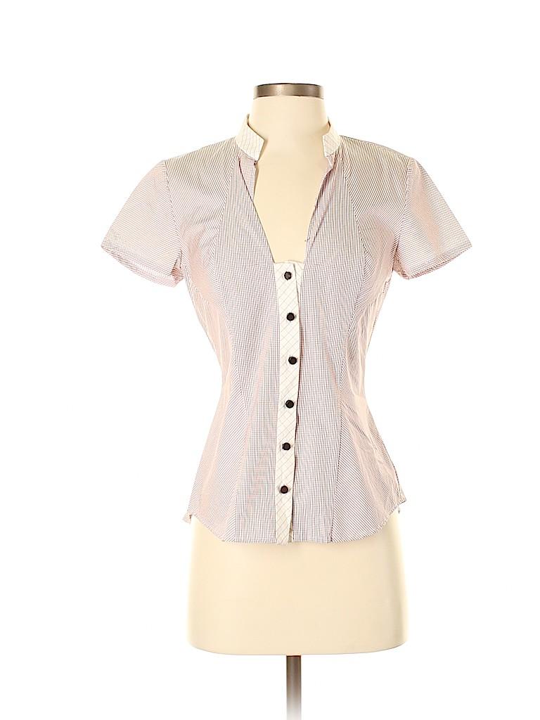 Zac Posen Women Short Sleeve Button-Down Shirt Size 4