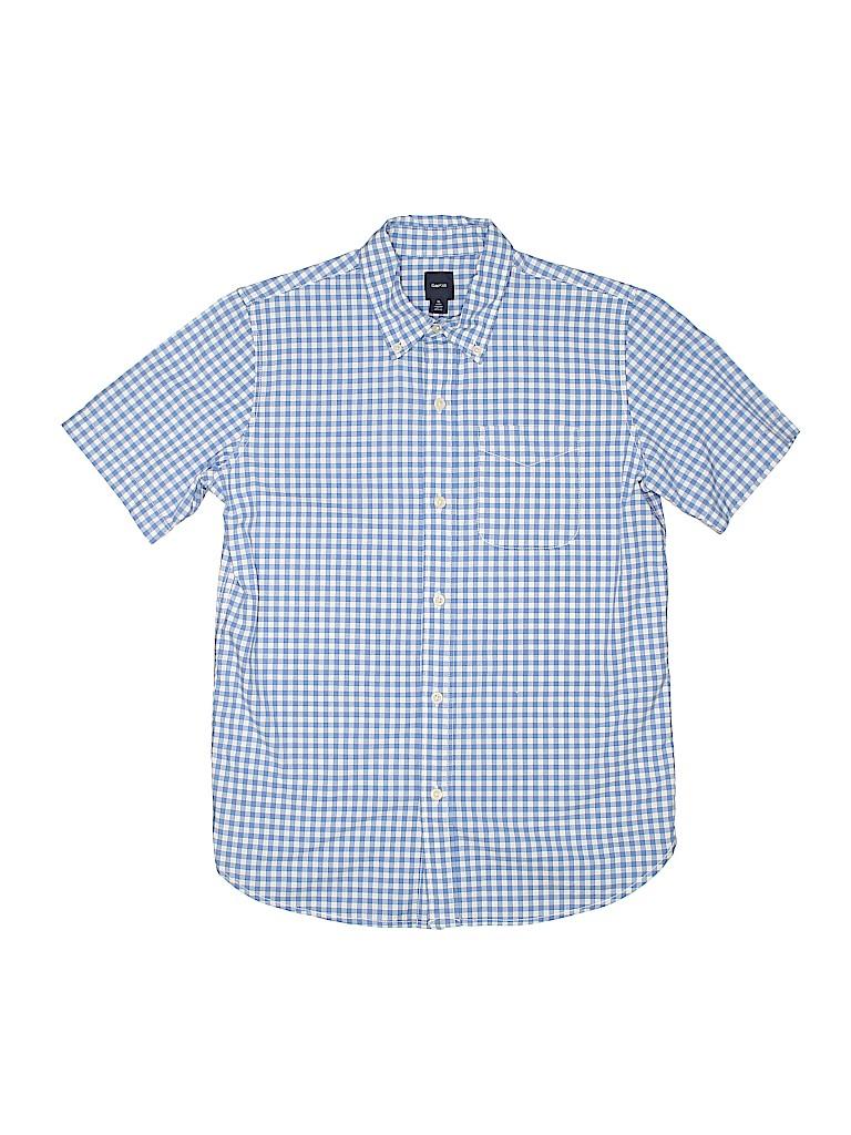 Gap Kids Girls Short Sleeve Button-Down Shirt Size 12