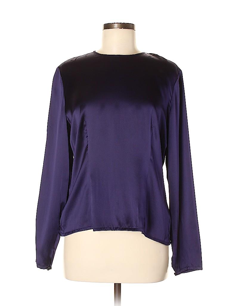 Carlisle Women Long Sleeve Silk Top Size 8
