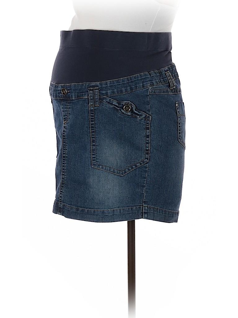 00d2fb5be Pin it Pin It Button Oh Baby By Motherhood Women Denim Skirt Size L ( Maternity)