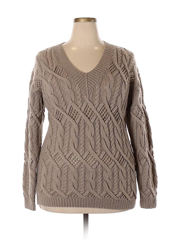 Neiman Marcus Women Cashmere Pullover Sweater Size 1 (Plus)