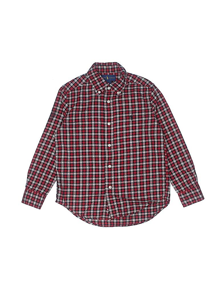 Ralph Lauren Boys Long Sleeve Button-Down Shirt Size 5