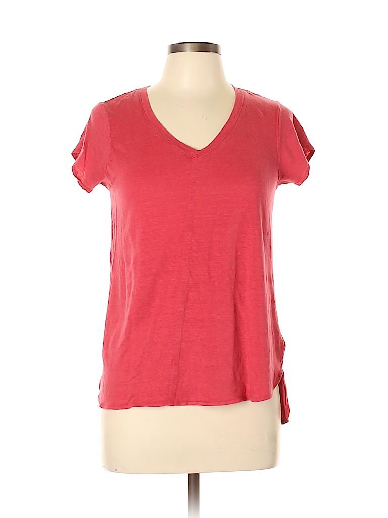 St. Tropez West Women Short Sleeve T-Shirt Size L