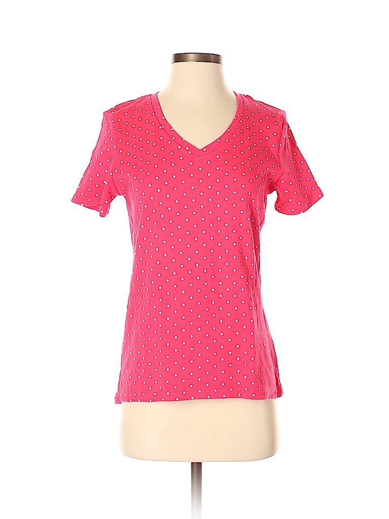 Basic Editions Women Short Sleeve T-Shirt Size S