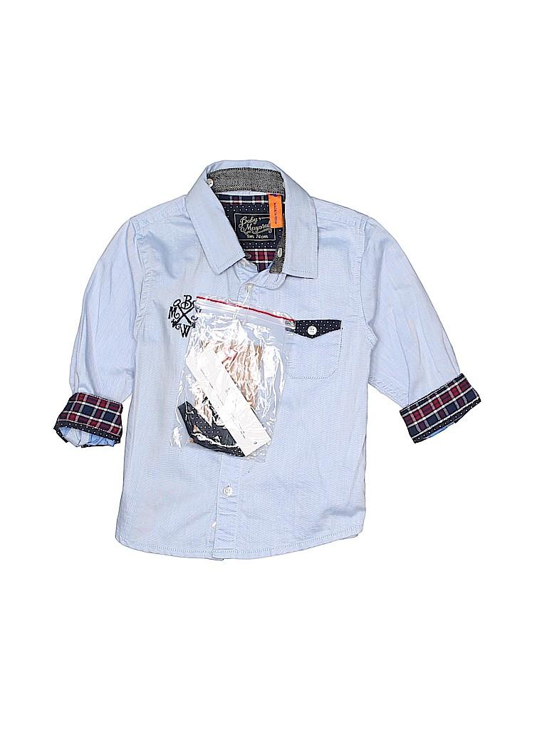 9ecc7f72a722 Baby Mayoral 100% Cotton Plaid Blue Long Sleeve Button-Down Shirt ...