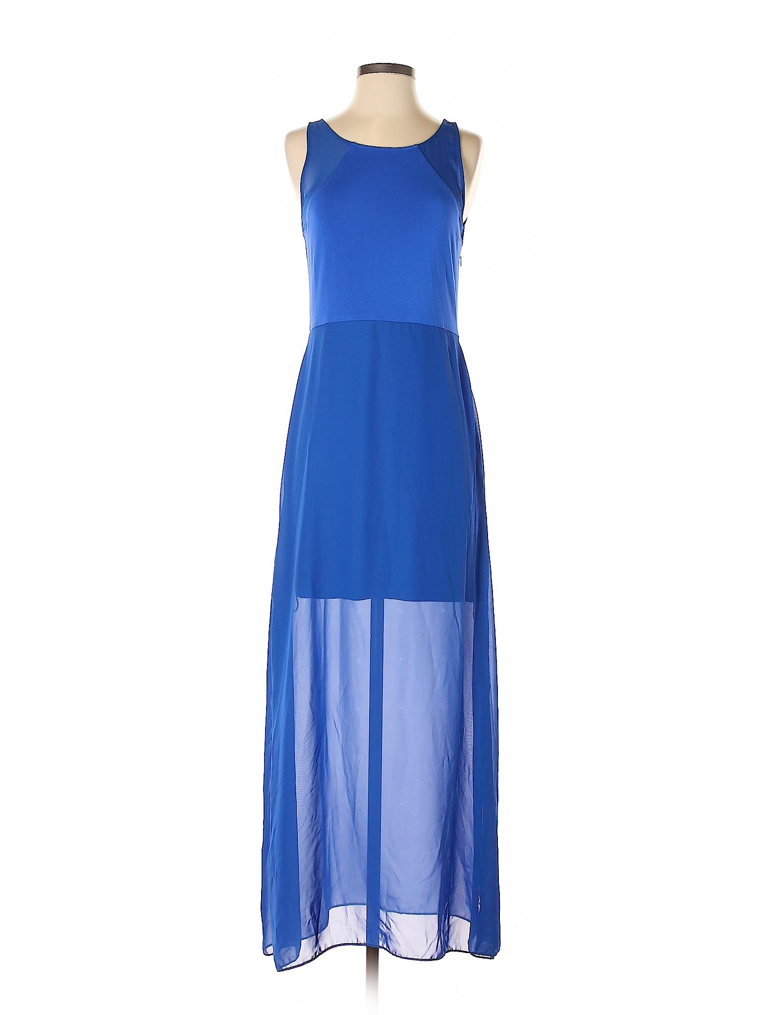 518860d27bd Details about Gianni Bini Women Blue Casual Dress Sm