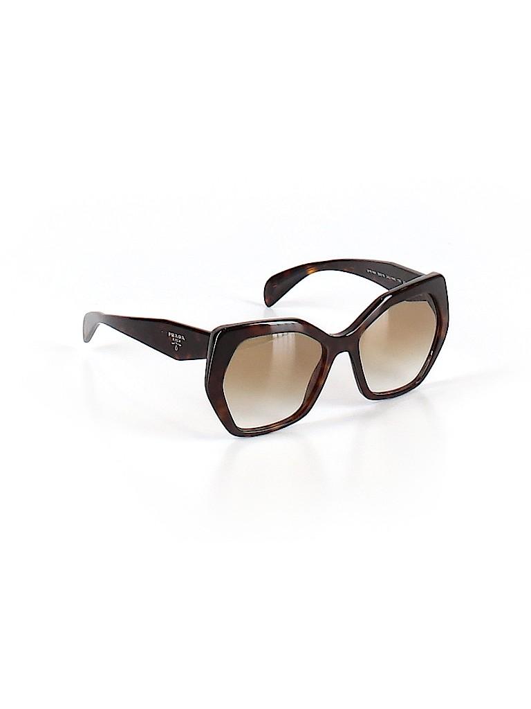 5850c9a91e42a Prada Solid Brown Sunglasses One Size - 55% off