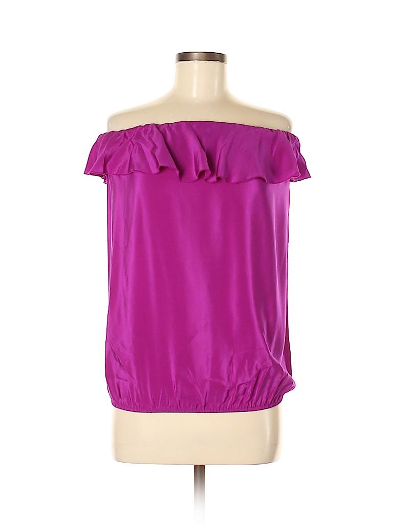 Amanda Uprichard Women Sleeveless Silk Top Size M