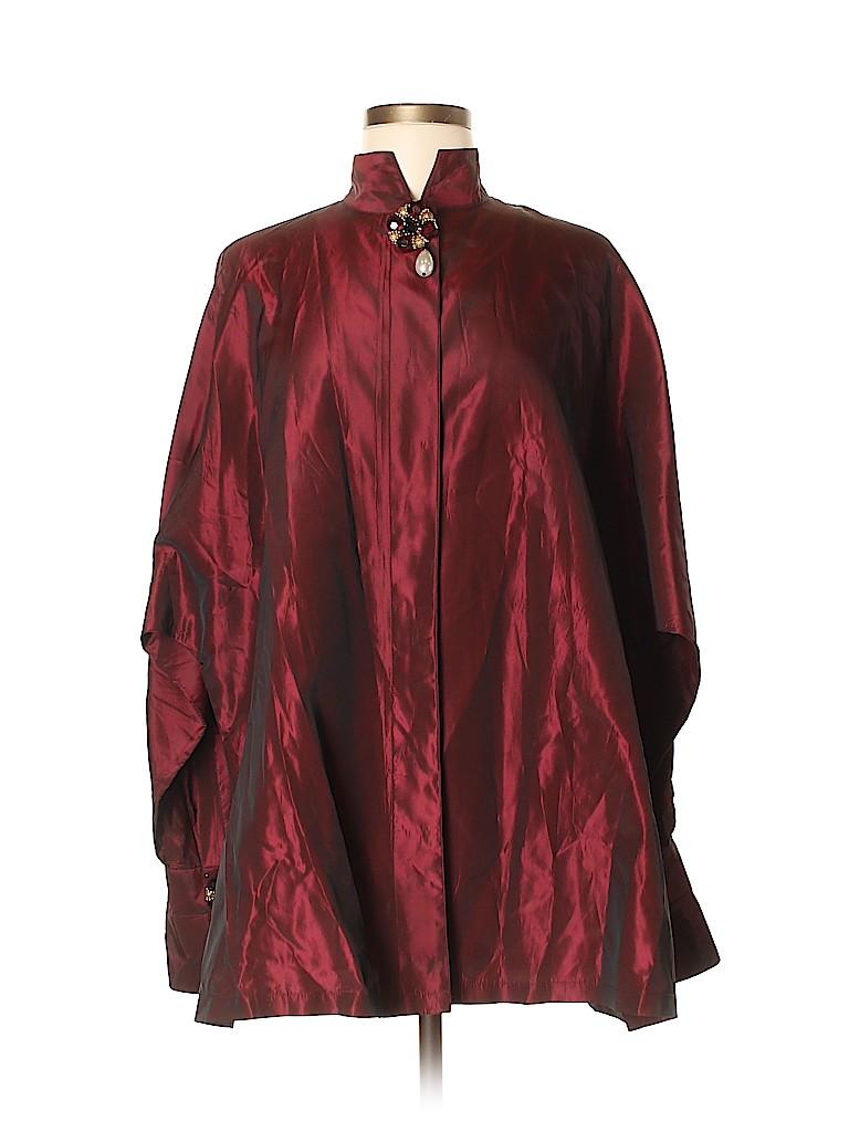 Andrea Jovine Women Long Sleeve Blouse Size M