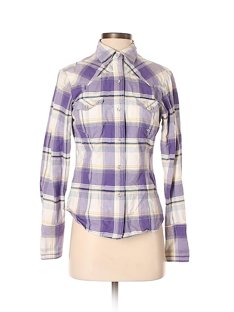 Roper Women Long Sleeve Button-Down Shirt Size S