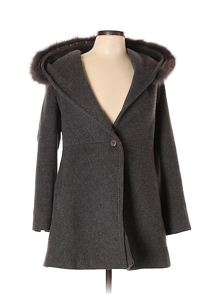Max Mara Women Wool Coat Size L