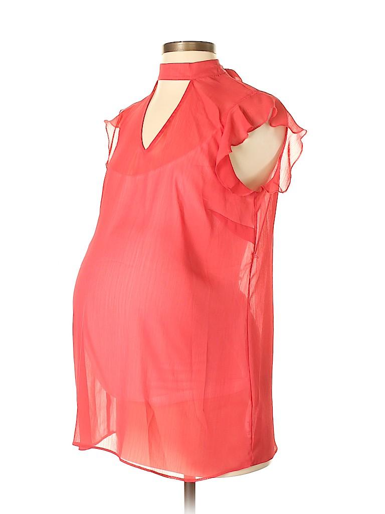 Motherhood Woman Size Small Red Blouse Women's Clothing