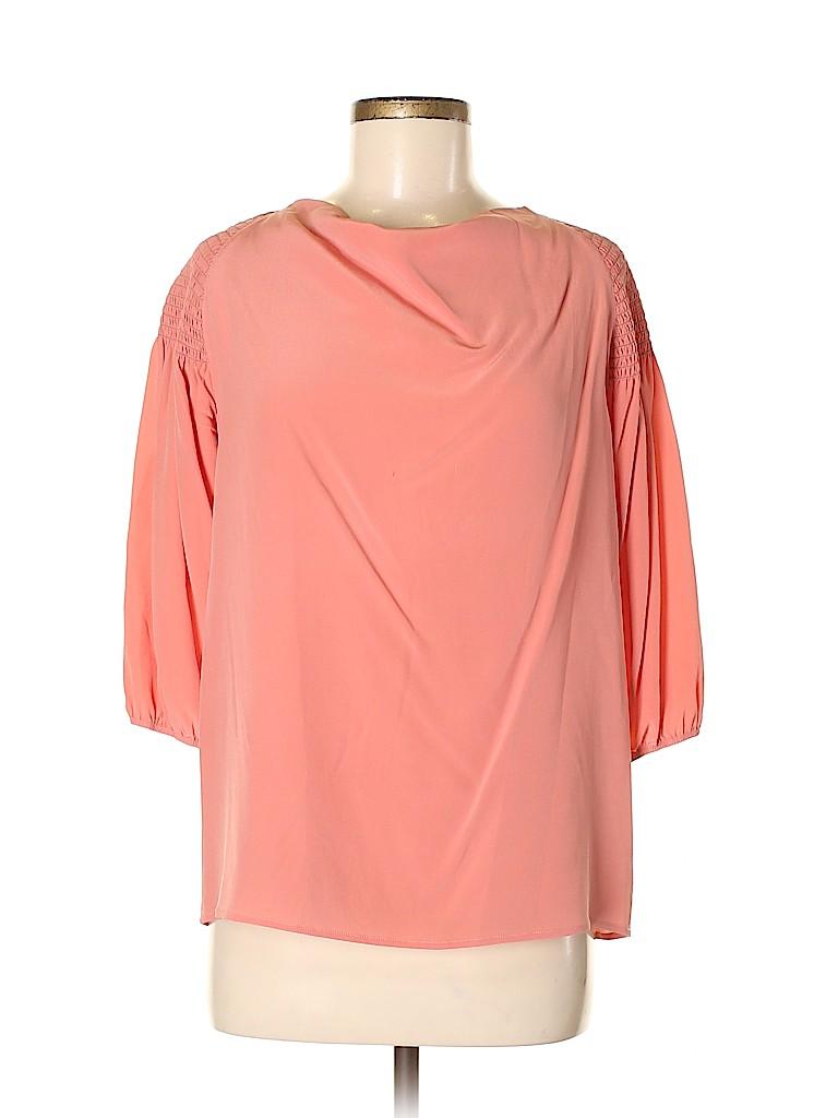 Bottega Veneta Women 3/4 Sleeve Silk Top Size 42 (IT)