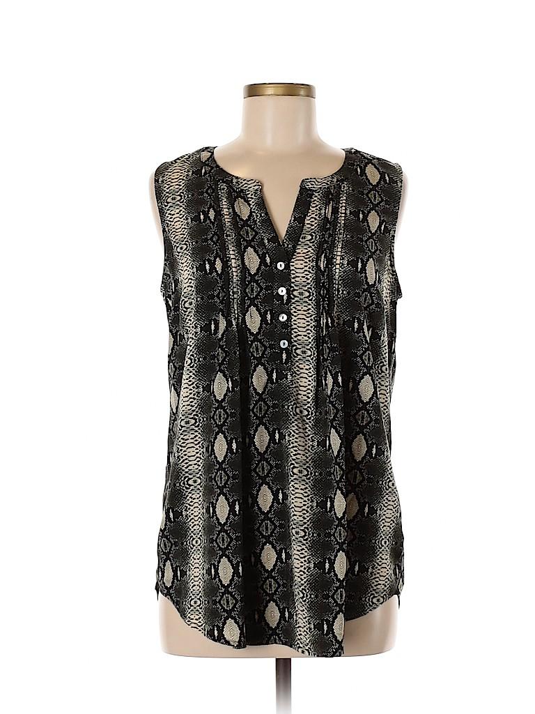 Daniel Rainn Women Sleeveless Button-Down Shirt Size M