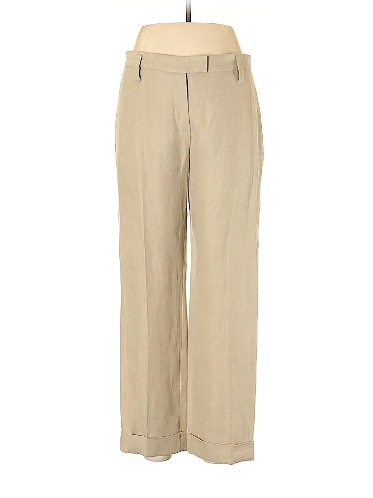 Sonia Rykiel Women Linen Pants Size 42 (FR)
