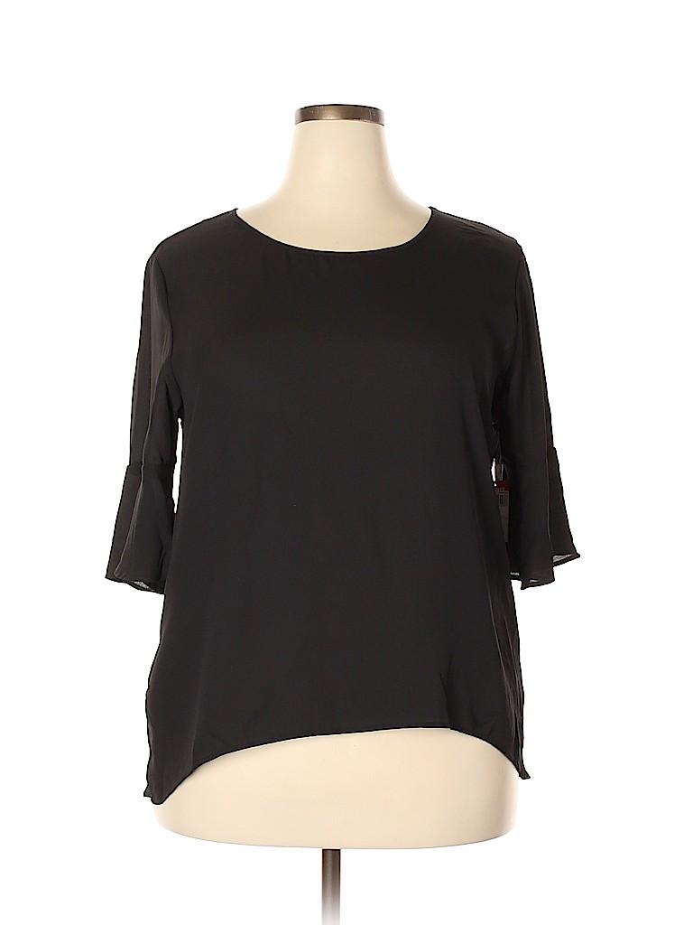 Jaclyn Smith Women 3/4 Sleeve Blouse Size XXL