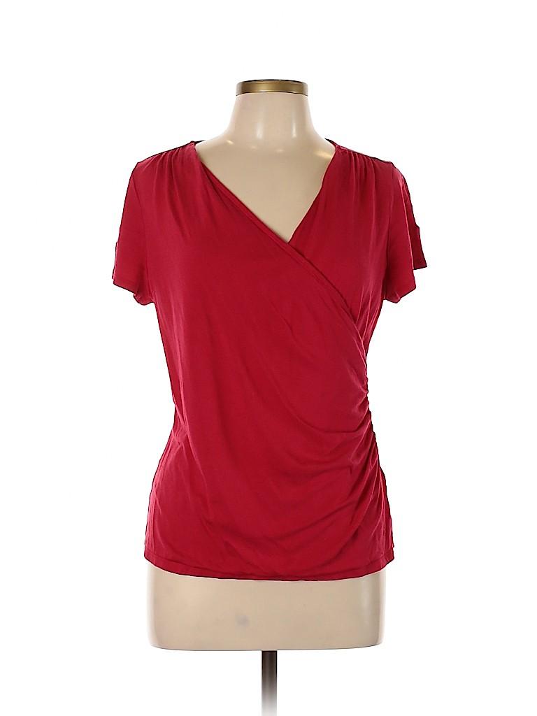 Talbots Women Short Sleeve Top Size L