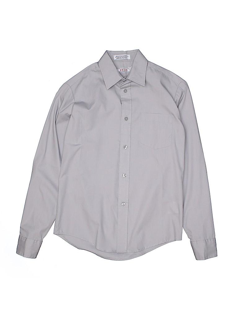 IZOD Boys Long Sleeve Button-Down Shirt Size 12