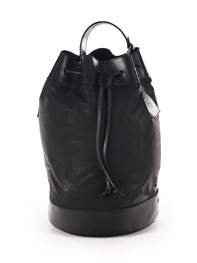 m0851 Solid Black Bucket Bag One Size - 20% off  b4b0da7f47d6d
