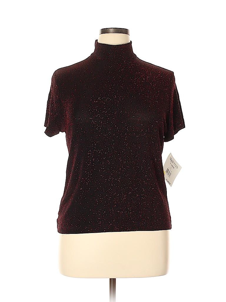 Apparenza Women Short Sleeve Top Size XL