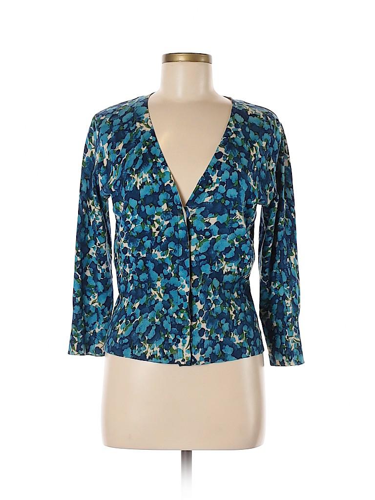AK Anne Klein Women Silk Cardigan Size L