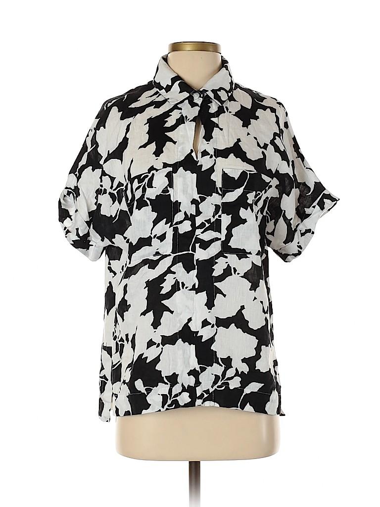 Elliott Lauren Women Short Sleeve Button-Down Shirt Size 4