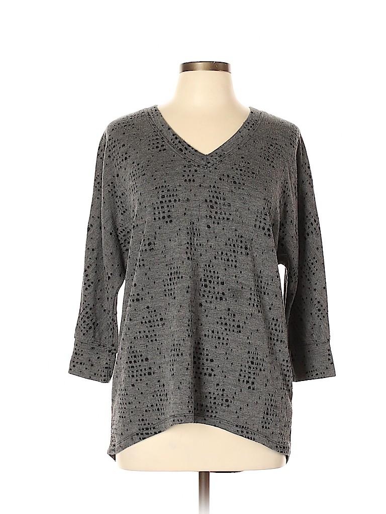 c0befe060b1 Bobi Print Gray Pullover Sweater Size L - 56% off