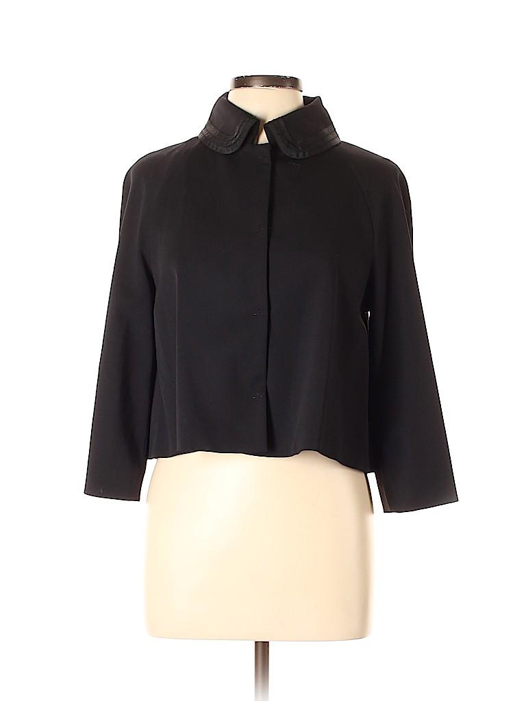 Elie Tahari Women Wool Cardigan Size 8