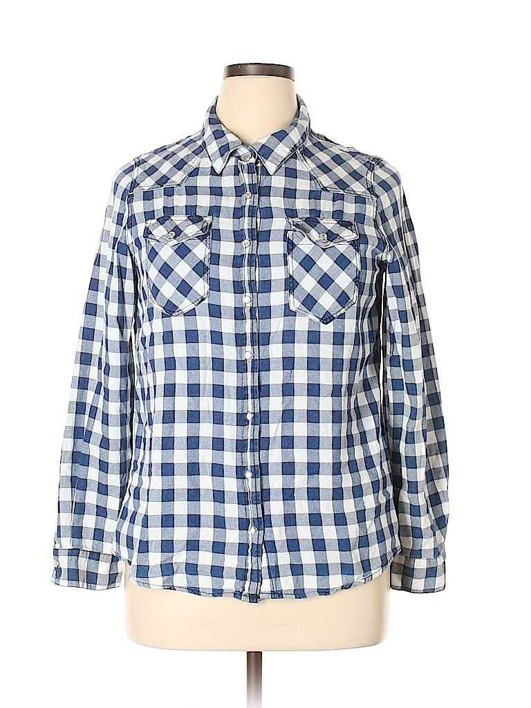 Justify Women Long Sleeve Button-Down Shirt Size XL