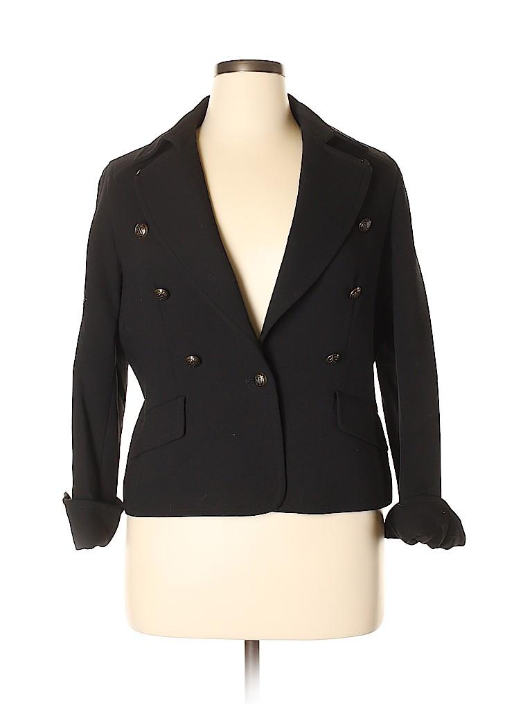 Talbots Women Wool Blazer Size 16 (Petite)