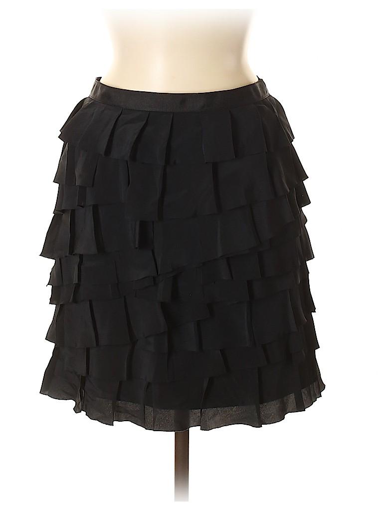 INC International Concepts Women Silk Skirt Size 4