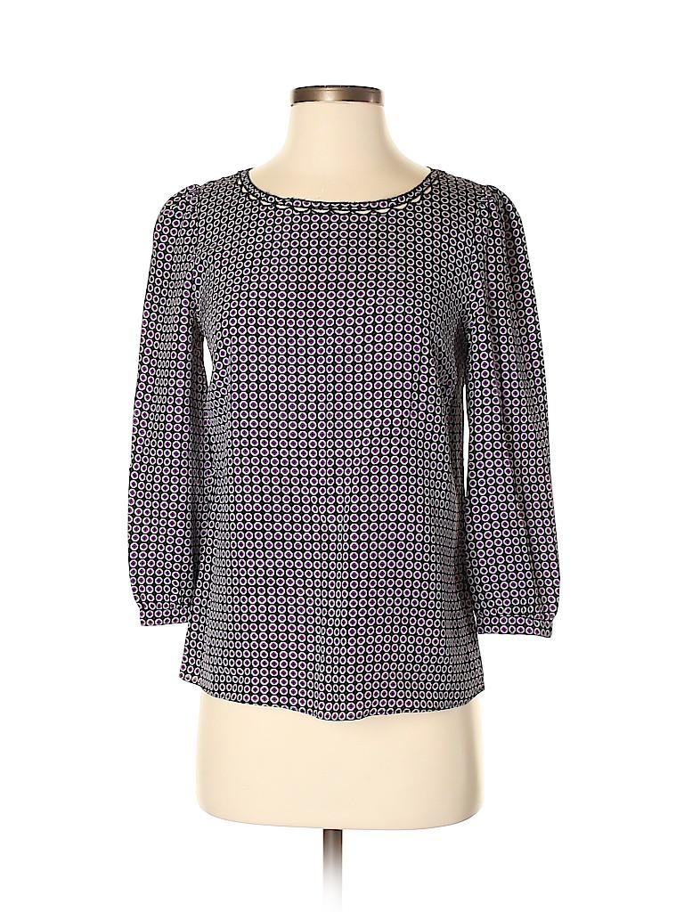 J. Crew Women 3/4 Sleeve Silk Top Size 0