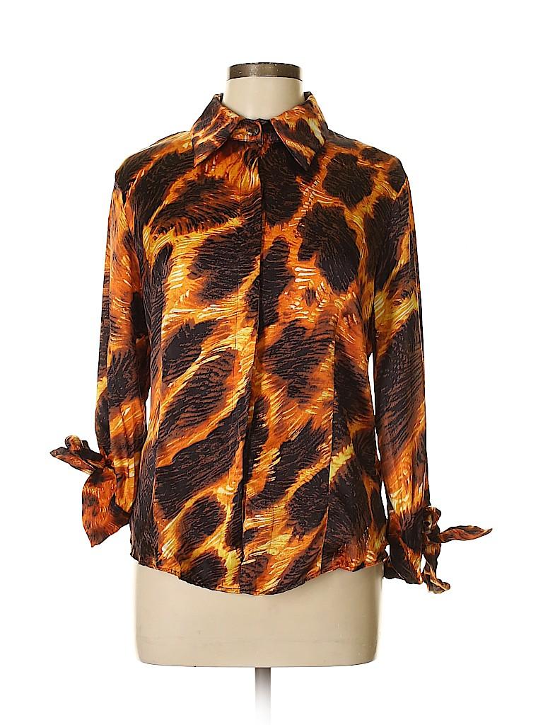 Just Cavalli Women Long Sleeve Blouse Size 46 (IT)